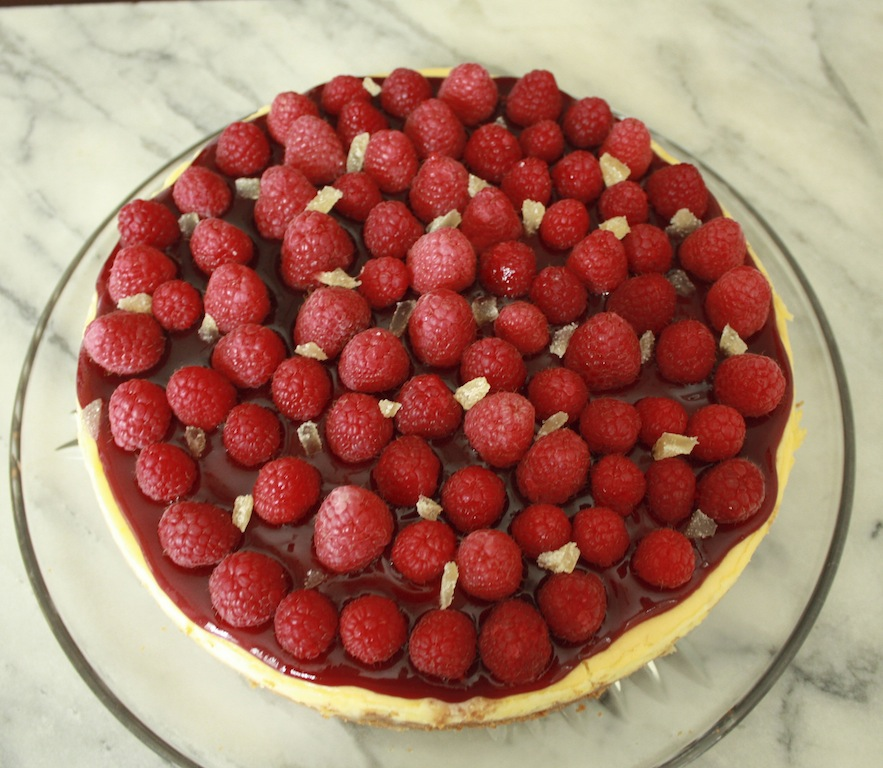 Raspberry Ginger Cheesecake - Desserts Required