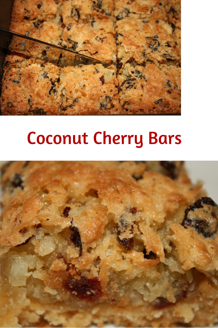 Desserts Required's Coconut Cherry Bars remind me of a butter cookie; and the toasted coconut aroma hits in a mouthwatering way. A family recipe sure to be a hit in your home.