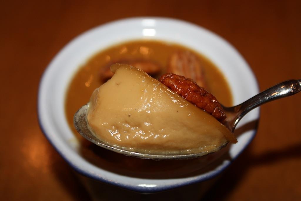 Butterscotch Pots de Crème with Scotched Pecans
