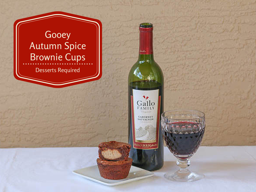 Desserts Required - Gooey Autumn Spice Brownie Cups