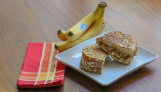Desserts Required - Grilled Peanut Butter Apple Banana Sandwich