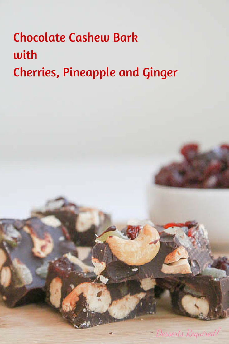 Required's Chocolate Cashew Bark with Cherries, Pineapple and Ginger ...