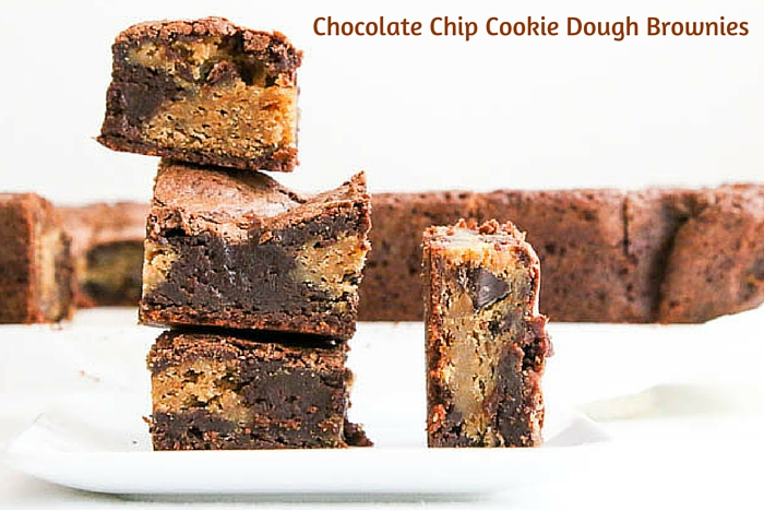Chocolate Chip Cookie Dough Brownies - Desserts Required