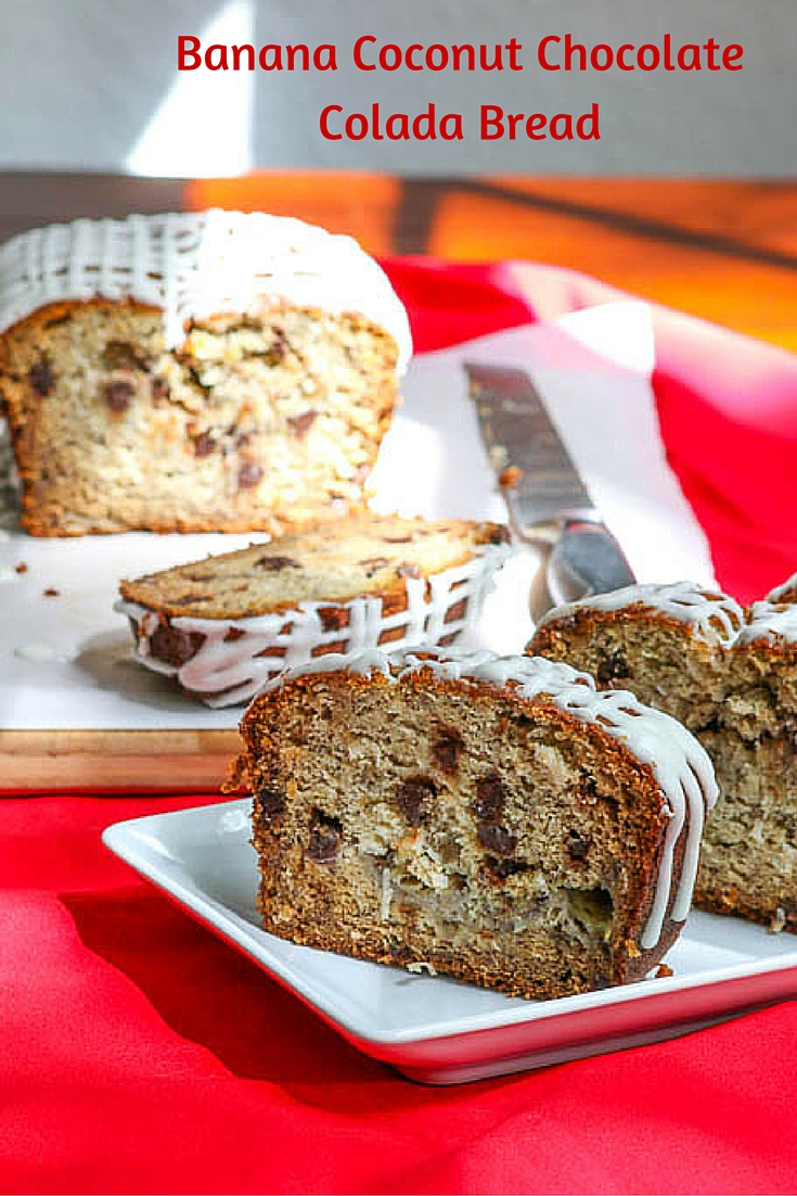 Banana Coconut Chocolate Colada Bread