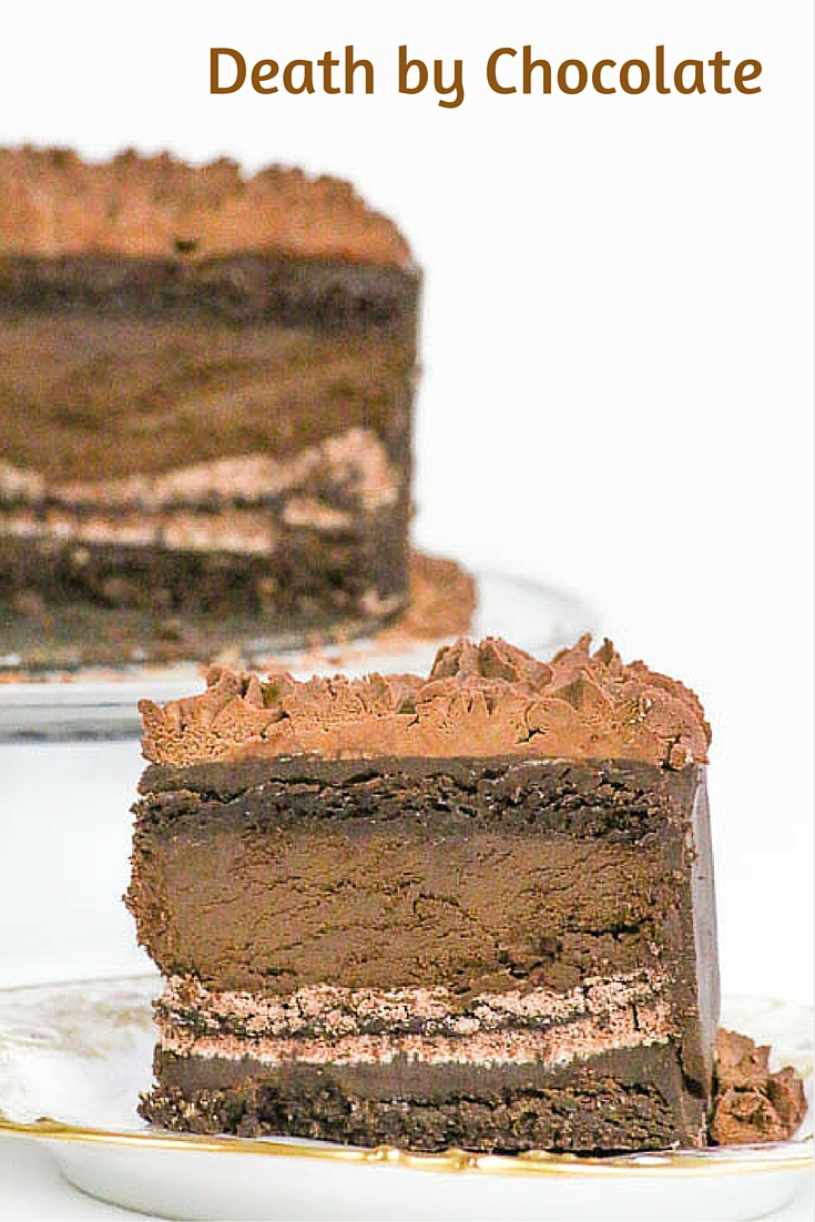 Death by Chocolate is a showstopper dessert sure to WOW your friends and family. Chocolate in six different ways means heaven on earth! #SundaySupper