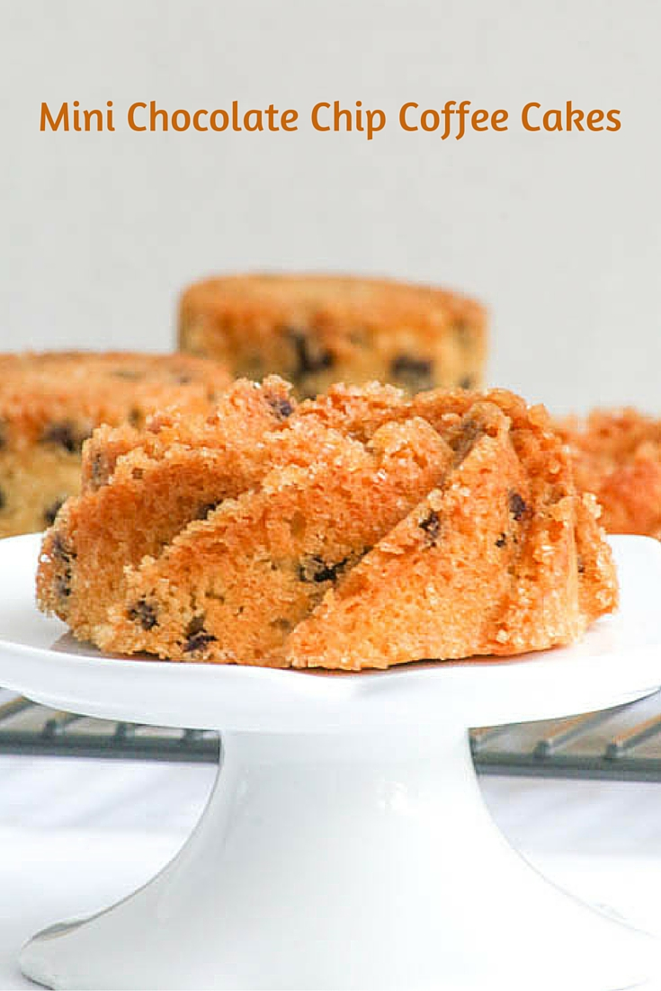 Mini Chocolate Chip Coffee Cakes are simple to bake and yummy in taste ...
