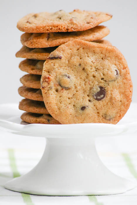 Fall in love with Bacon Chocolate Chip Cookies but be forewarned - it's very hard not to eat all of these baked goodies when they come out of the oven!