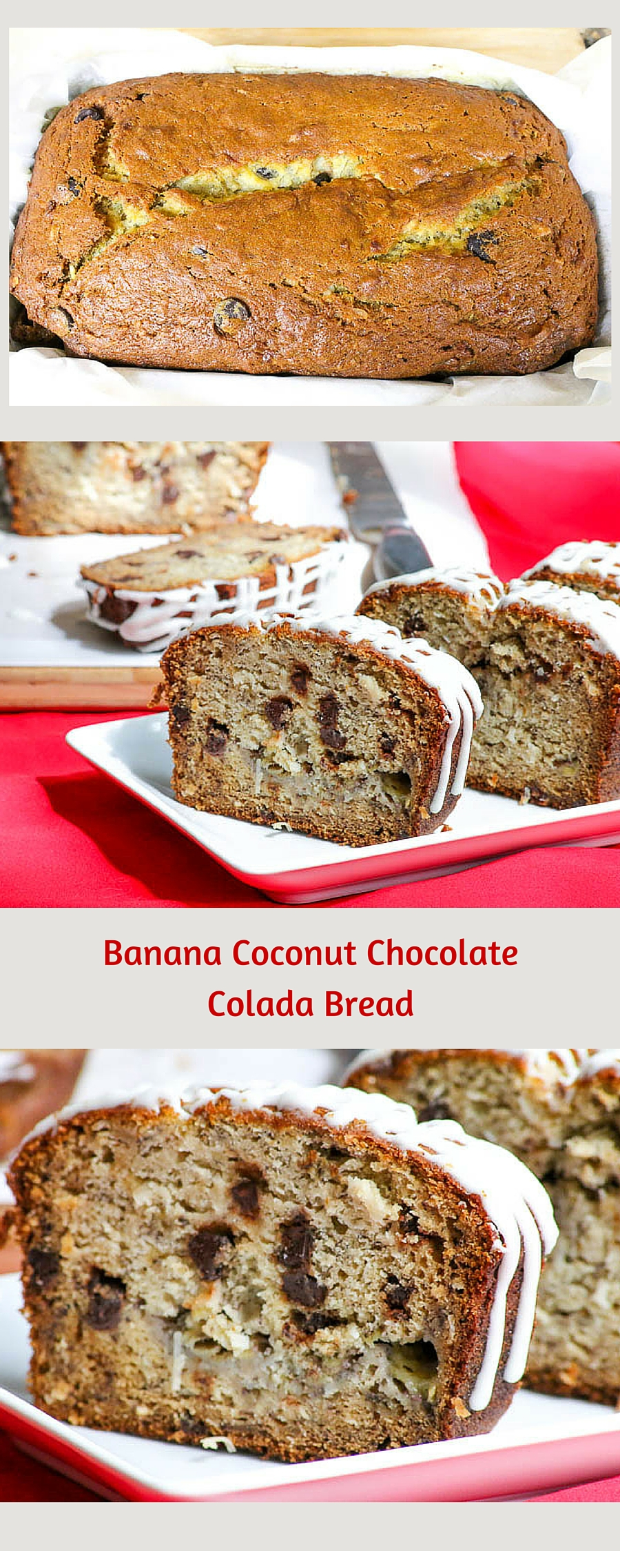 Weekly Meal Plan #21 - Banana Coconut Chocolate Colada Bread
